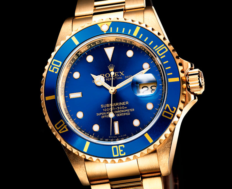 replique de montre en or rolex submariner