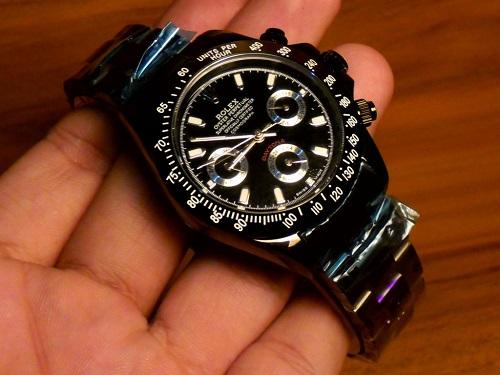 RepliqueFrance-Rolex-Daytona-Lady-Full-Black