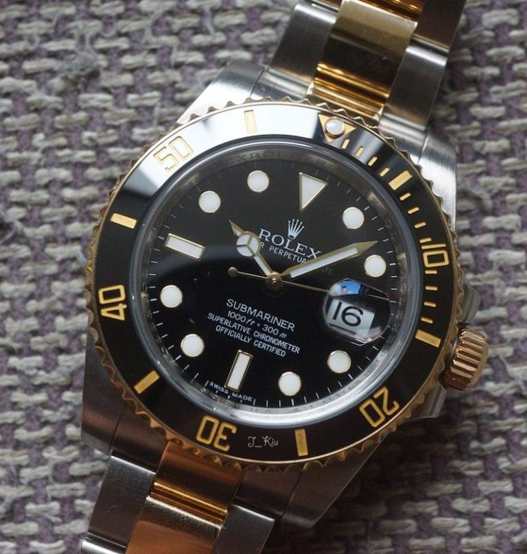 Réplique Rolex Submariner Two Tone Cadran Noir Montre