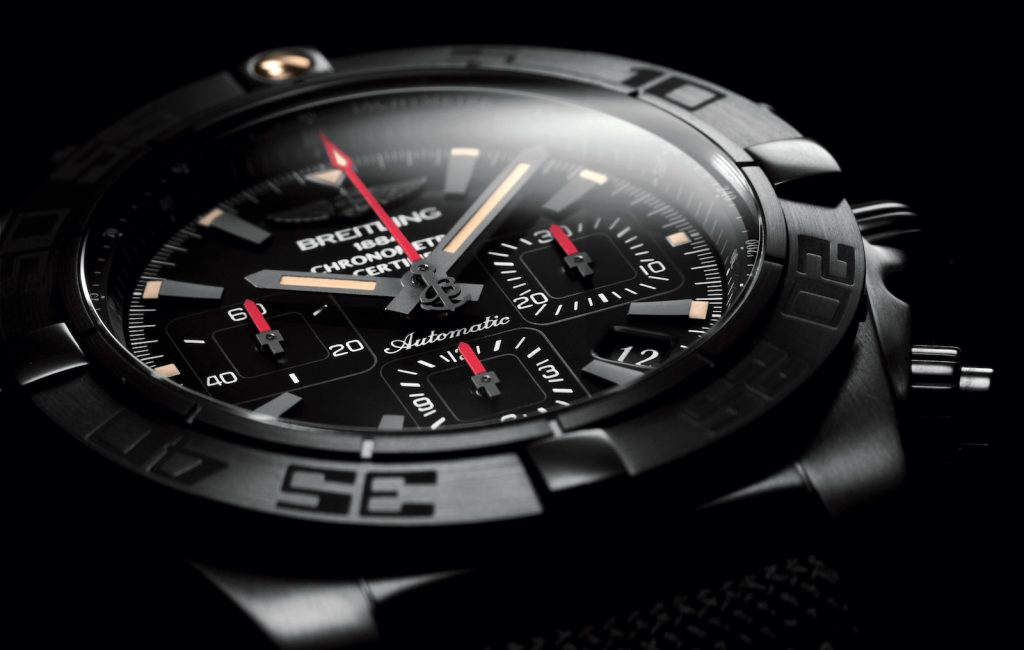 Copie Chronomat 44 Blacksteel Cadran