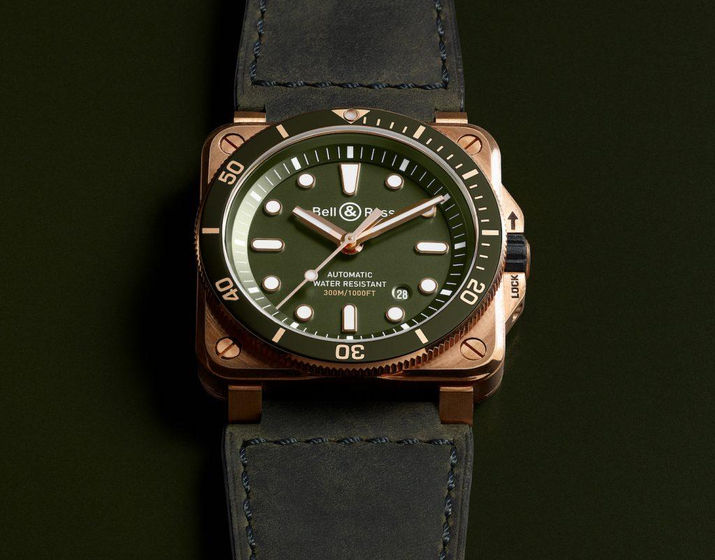 Réplique DeMontre Bell & Ross BR 03-92 Diver Bronze Green